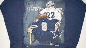 DALLAS COWBOYS NAVY CREW 90'S AIKMAN