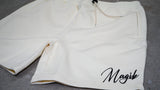 MAGIK SIGNATURE FRENCH TERRY SHORT - IVORY