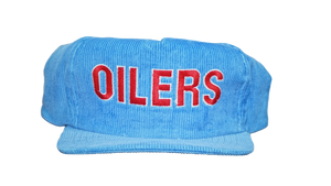 HOUSTON OILERS CORDUROY 80'S SNAPBACK - BLUE