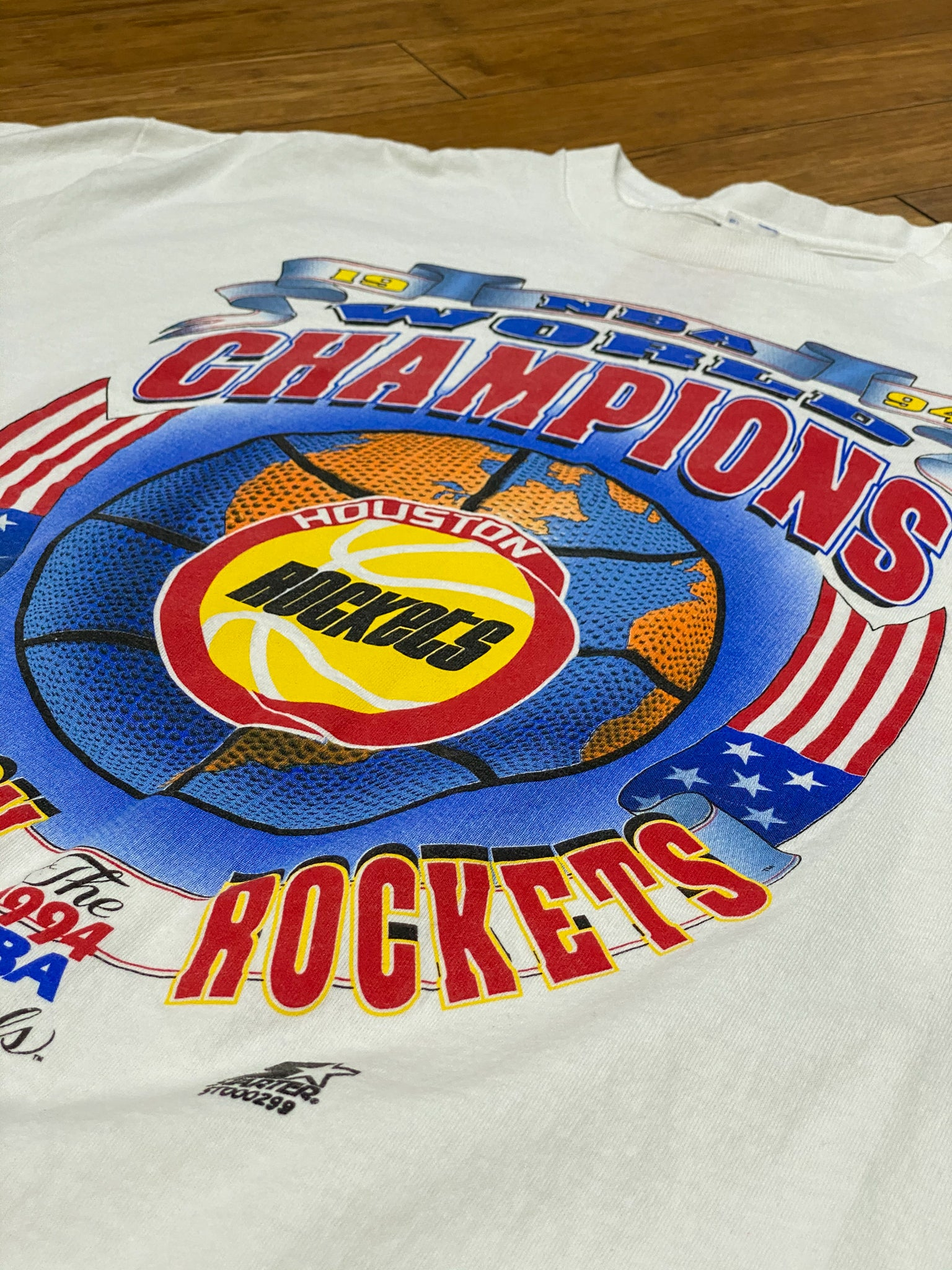 Starter world champs rockets tee blue/red