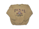 TEXAS LONGHORNS GOLD REVERSE WEAVE CREW 91'