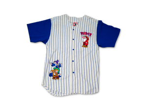 DISNEYLAND MINER LEAGUE PINSTRIPED WHITE
