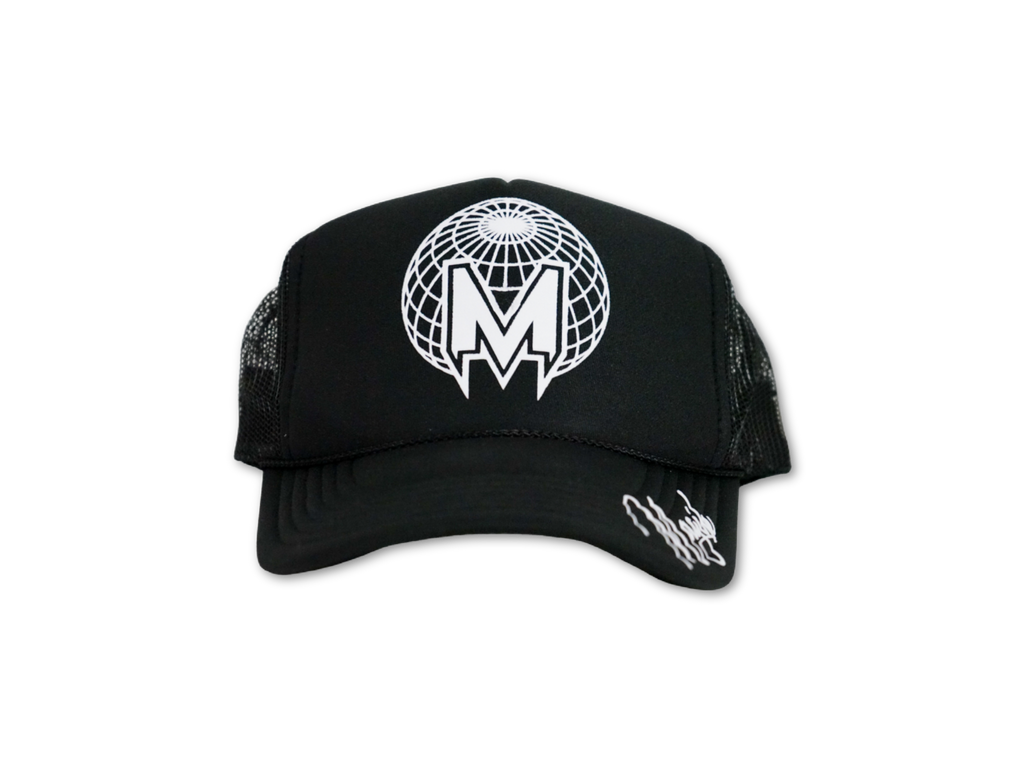 MAGIK ORBIT TRUCKER HAT - BLK/WHITE 3D