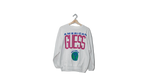 Guess white classic crewneck sweater