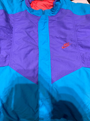 Nike multi 90's zip up silvertag