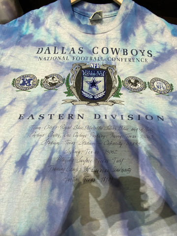 Dallas cowboys tye dye 90's austin tx camp tee