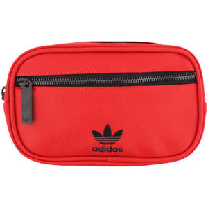 adidas leather red body bag - red