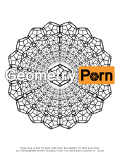 Load image into Gallery viewer, SACRED GEOMETRY COLORING BOOK - Geometry Porn