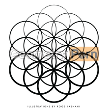 Load image into Gallery viewer, SEED OF LIFE FADE - Geometry Porn