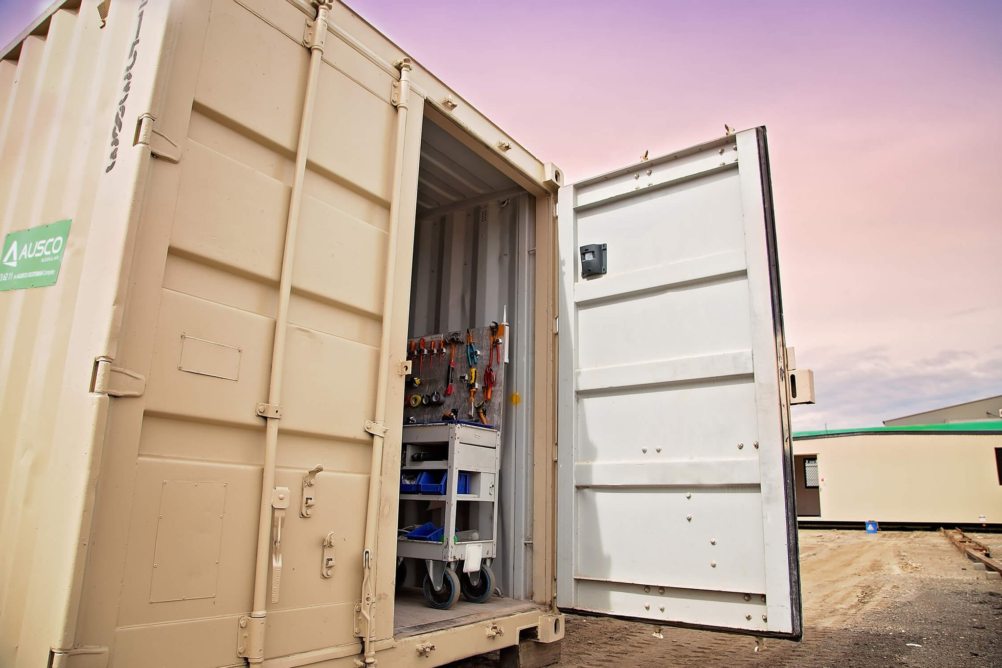 Stop theft in your container or shed