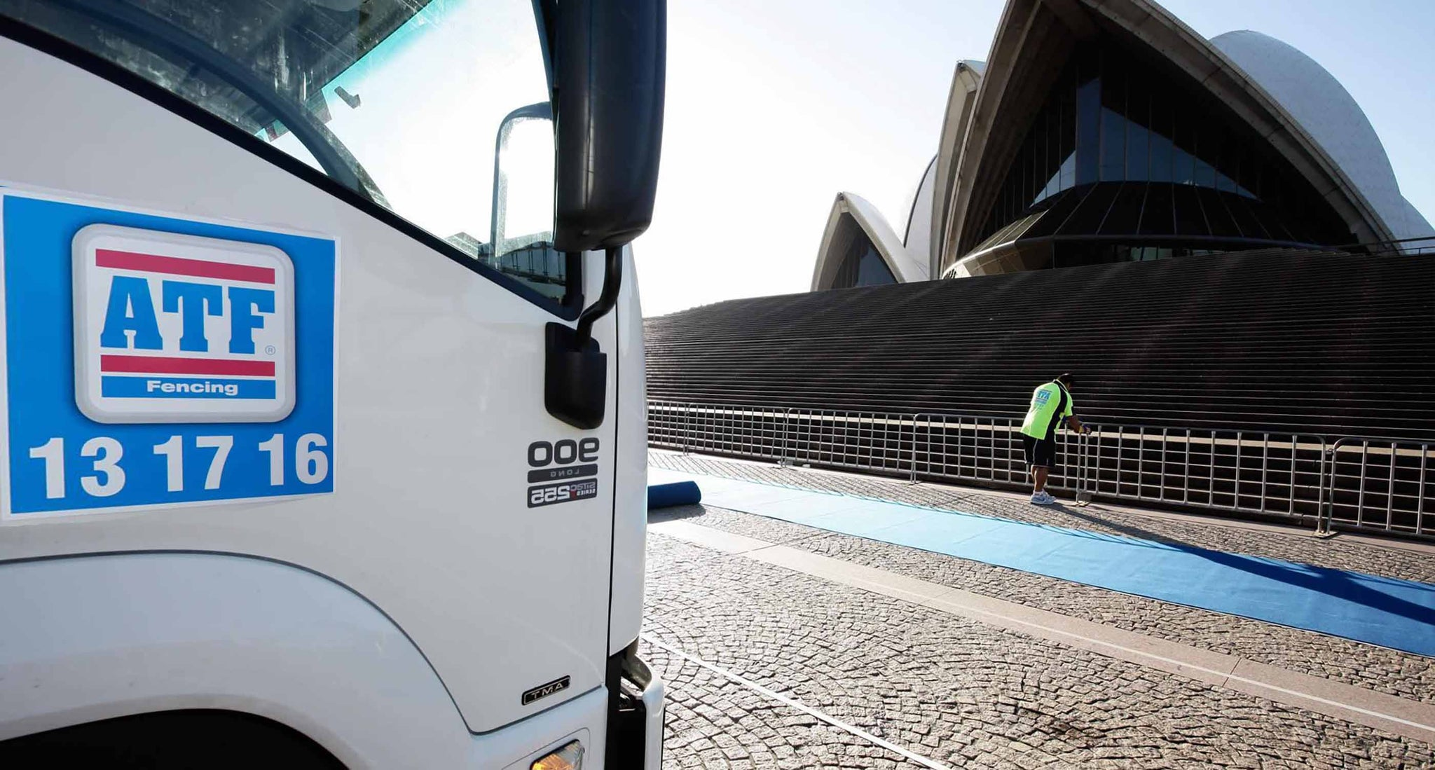 Temporary Fencing Hire at Sydney Opera House. Hire From ATF Fencing