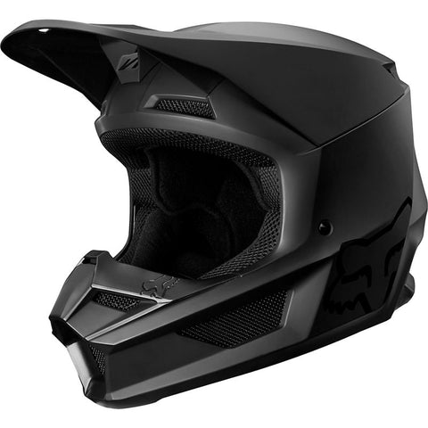 FOX RACING V1 MATTE BLACK HELMET YOUTH STYLE#21830