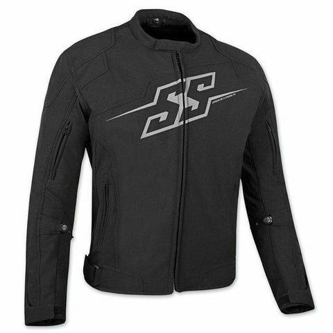 SPEED & STRENGTH HAMMER DOWN TEXT JACKET BLACK LARGE