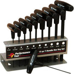 PERFORMANCE TOOL T-Handle Hex Set 10-Pieces  W80275