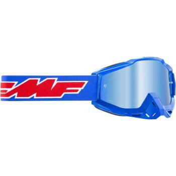 FMF VISION PowerBomb Goggles - Rocket - Blue - Blue Mirror  F-50200-250-02