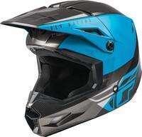 FLY RACING YOUTH KINETIC STRAIGHT EDGE HELMET BLUE/GREY/BLACK  73-8633Y