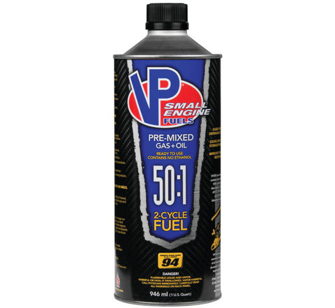VP RACING 2-CYCLE PREMIXED 50:1SMALL ENGINE FUEL 1 QUART