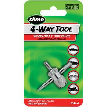 SLIME Tire Valve Tool 4-Way  2044-A