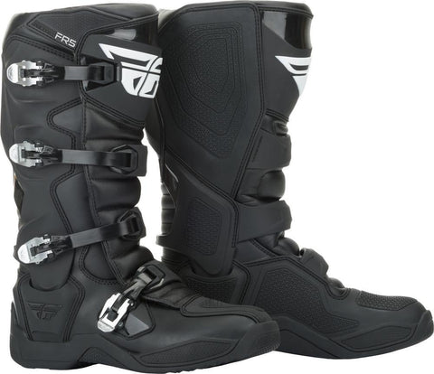 FLY RACING FR5 BOOTS BLACK SIZE 10