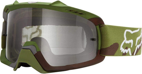 FOX RACING AIR SPACE GOGGLE YOUTH CAMO GREEN/CAMO CLEAR