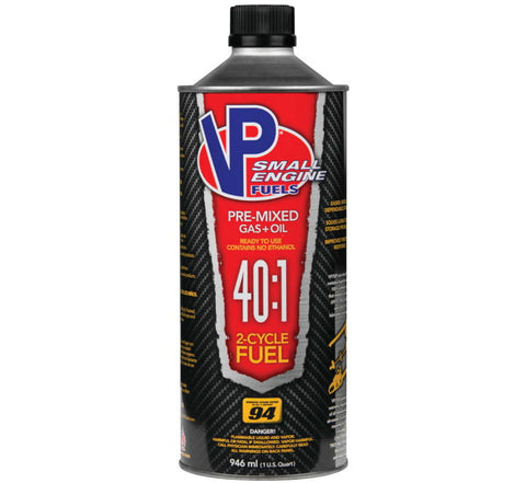 VP RACING 2-CYCLE PREMIXED 40:1 SMALL ENGINE FUEL 1 QUART
