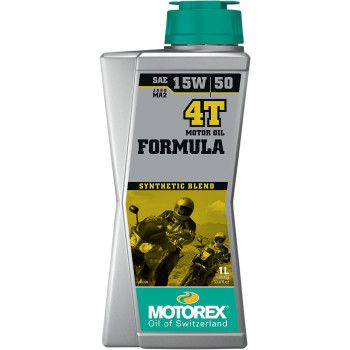 MOTOREX Formula Synthetic Blend 4T Engine Oil - 15W50 - 1 L   198481