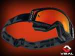 VIRAL BRAND FACTORY SERIES GOGGLE BLACK W/MIRRORED LENSE  VB-F21BLK