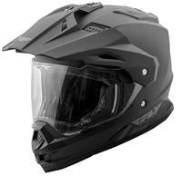 FLY RACING TREKKER SOLID HELMET MATTE BLACK  73-7011