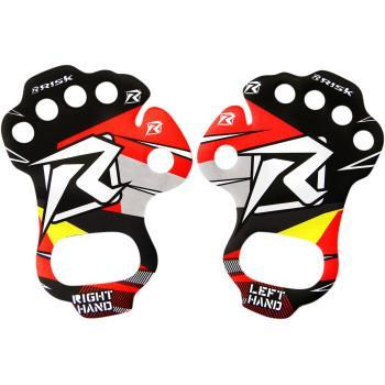 RISK RACING Palm Protectors Pair- Red