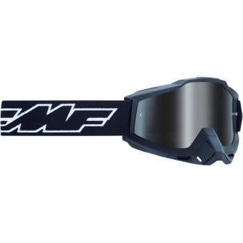 FMF VISION PowerBomb Goggles - Rocket - Black - Silver Mirror  F-50200-252-01