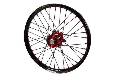 "Beta Racing Kite 21"" Front Wheel, Red Hubs, Red Nipples, Black Spokes or Silver Spokes, Black Rim  AB-21321"