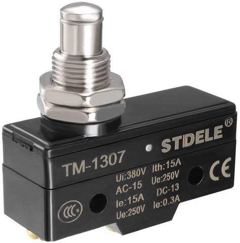 uxcell TM-1307 SPDT 1NO 1NC Panel Mount Snap Button Type Micro Limit Switch