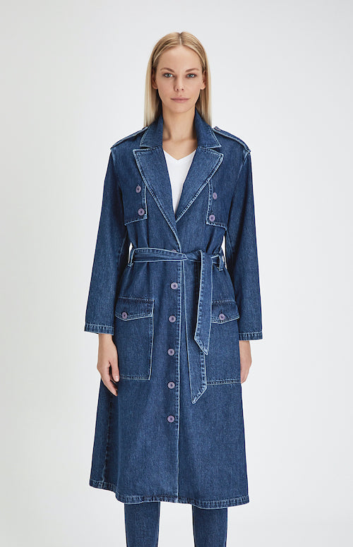 ICONIC DENIM TRENCHCOAT