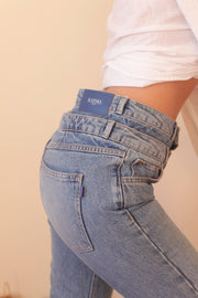 ICONIC DOUBLE BELT JEAN