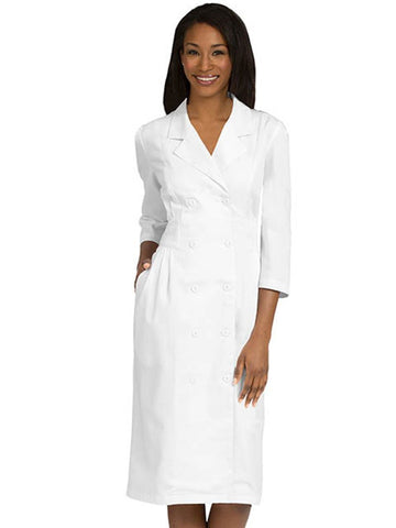 1165 EMPIRED EMBROIDERED WAIST DRESS - Elegant Scrubs & Apparel