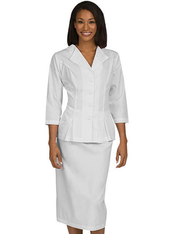 1203 2 PIECE SKIRT AND JACKET SET - Elegant Scrubs & Apparel