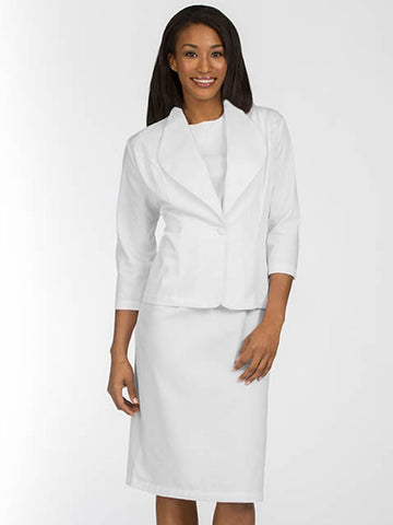 1205 2 PIECE DRESS AND JACKET SET - Elegant Scrubs & Apparel
