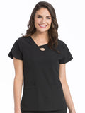 3408 KEYHOLE NECK TOP - Elegant Scrubs & Apparel