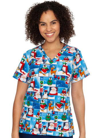 4030 (LTSN) Let It Snow - Elegant Scrubs & Apparel