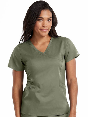 7472 MOCK WRAP TOP - Elegant Scrubs & Apparel