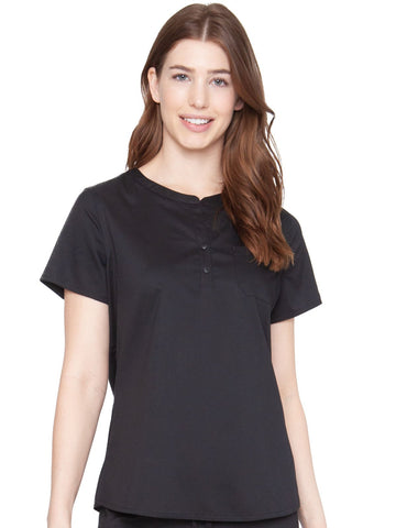 7479 HENLEY TOP - Elegant Scrubs & Apparel