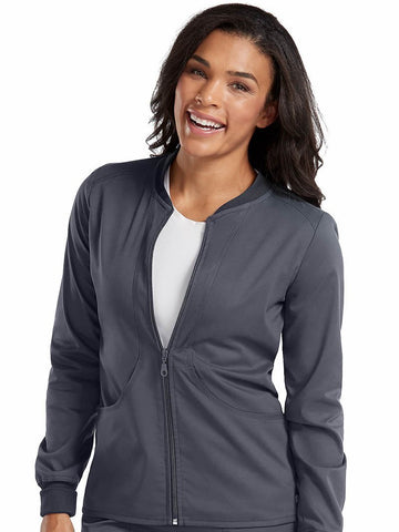 7663 ZIP FRONT WARM UP - Elegant Scrubs & Apparel