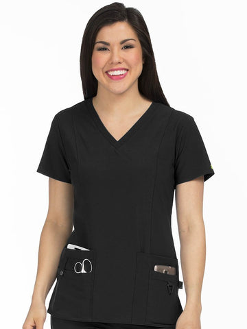 8408 V-NECK PRINCESS SEAM TOP - Elegant Scrubs & Apparel
