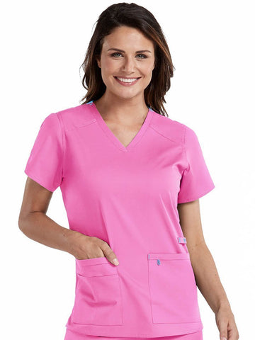 8409 V-NECK MULTI-POCKET TOP - Elegant Scrubs & Apparel