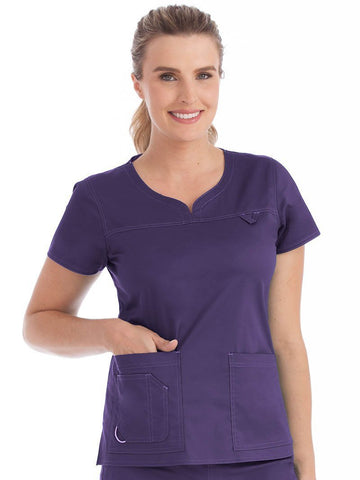 8489 SPORT NECKLINE TOP - Elegant Scrubs & Apparel