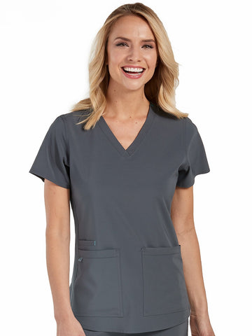 8579 RACERBACK SHIRTTAIL TOP (Size: 2X-5X) - Elegant Scrubs & Apparel
