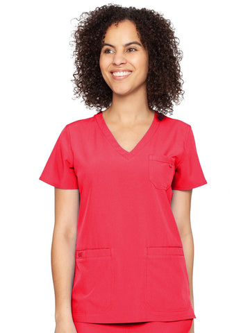 8587 V-NECK 3 POCKET TOP (Size:XS-XL) - Elegant Scrubs & Apparel