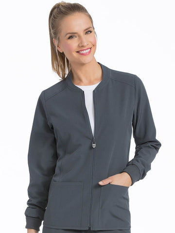 8669 ZIP FRONT WARM UP-out of stock - Elegant Scrubs & Apparel
