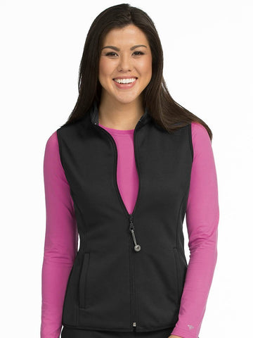 8690 PERFORMANCE FLEECE VEST - Elegant Scrubs & Apparel