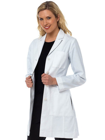 9632 TAILORED LONG LENGTH LAB COAT - Elegant Scrubs & Apparel